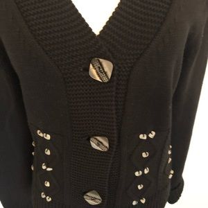 Swing by Bette and Court Sweaters - Swing Bette & Court Black Golf Cardigan Sweater